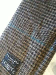 Christian Dior Monsieur Fringed Checkered Scarf